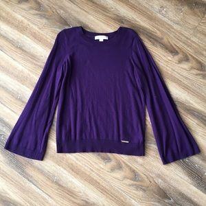 Michael Kors Purple Bell Sleeve Sweater